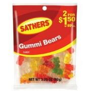 Sathers Gummi Bears 12 pack (3.25oz per pack) (Pack of 2)