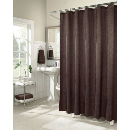 Apt 9 Terrace Chevron Fabric Shower Curtain Dark Brown