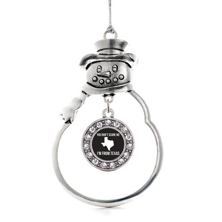 You Don't Scare Me I'm From Texas Circle Snowman Holiday Ornament](Texas Snowman)