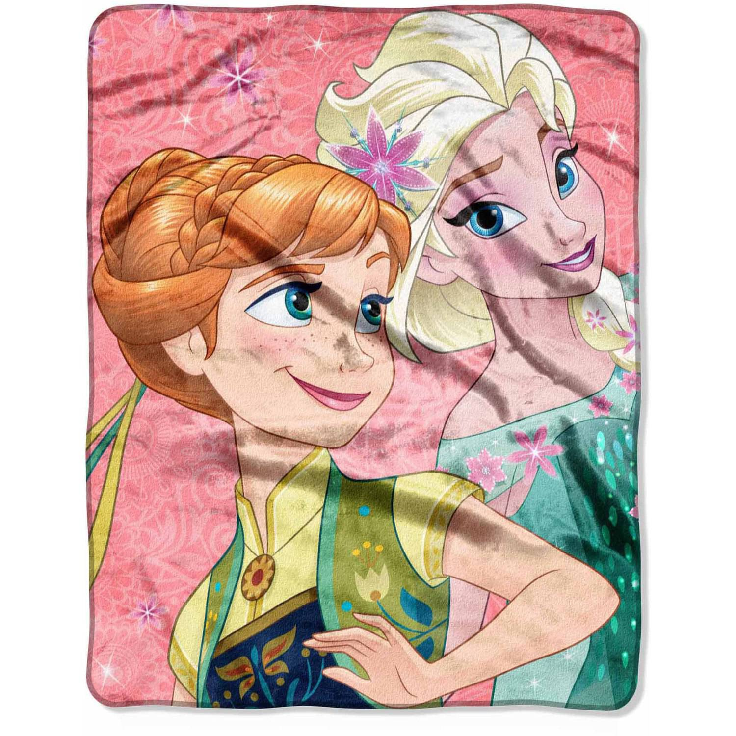 """Disney Frozen """"Coral Lace"""" 40"""" x 50"""" Silk Touch Throw"""