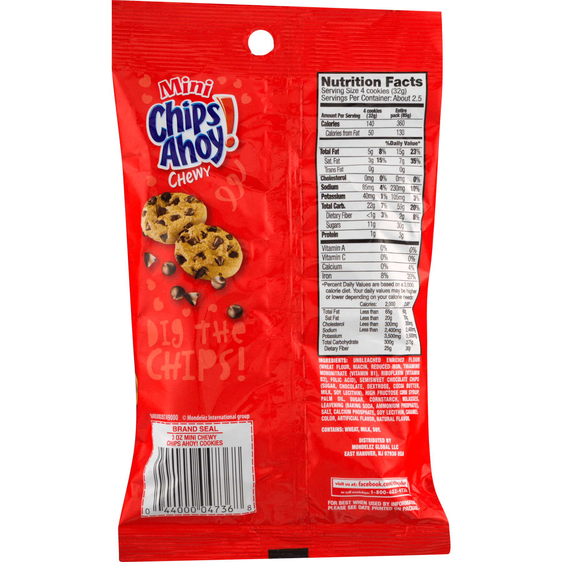 Nabisco Chips Ahoy! Mini Chewy Cookies