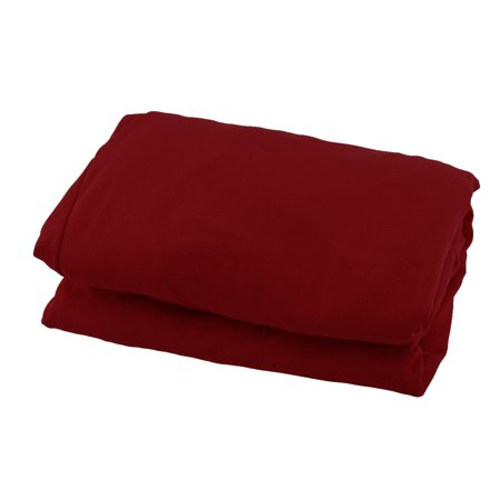 Wedding Banquet 60cm Dia Dark Red Spandex Round 4 Legs Cocktail Table Cover Cloth