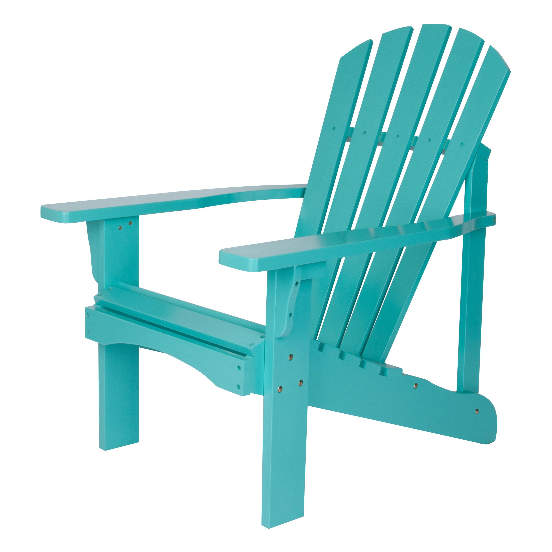 Shine Company Rockport Adirondack Chair, Yellow Cedar Wood - Aqua