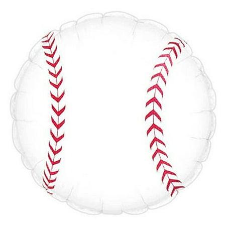 Baseball Balloon (18 inch Mylar) Pkg/10 (Baseball Pinatas)