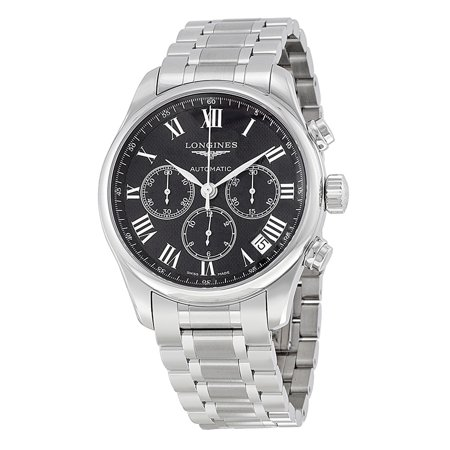 Longines Masters Automatic Chronograph Black Dial Stainless Steel Mens Watch L2 693 4 51 6