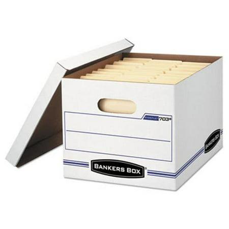 Bankers Box File Storage Box w/Lift-Off Lid, White, 6 Boxes - Halloween Wav Files