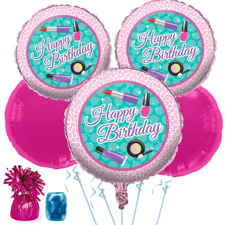 Spa Birthday Balloon Bouquet Kit - Party Supplies