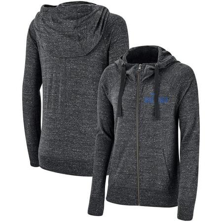 Duke Blue Devils Nike Women's Gym Vintage Graystory Raglan Full-Zip Hoodie - Heathered Anthracite