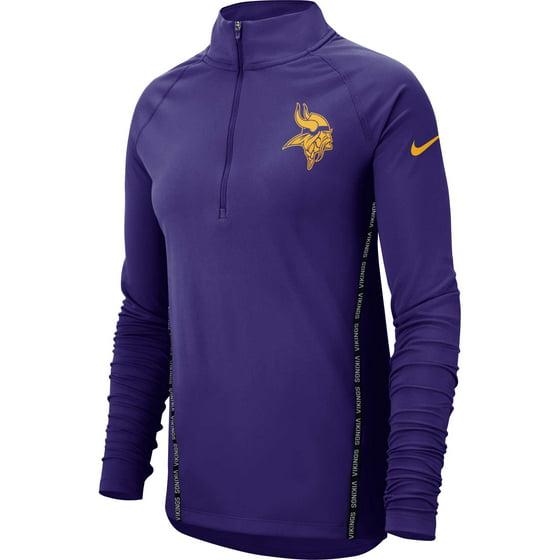 san francisco 4e69c 12a3c Minnesota Vikings Nike Women's Core Half-Zip Pullover Jacket - Purple