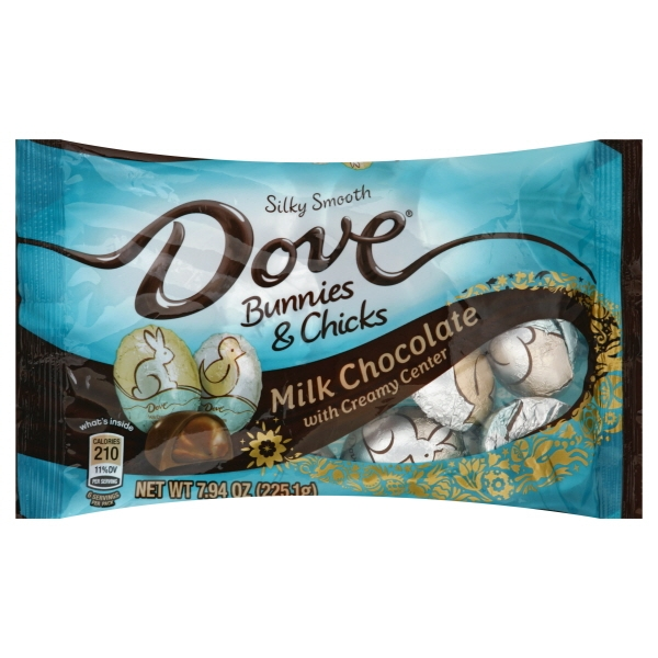 Dove Milk Chocolate Bunnies & Chicks, 7.94 Oz.