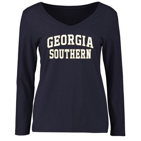 Georgia Southern Eagles Women's Everyday Long Sleeve T-Shirt - Navy Georgia Womens Eagle Light
