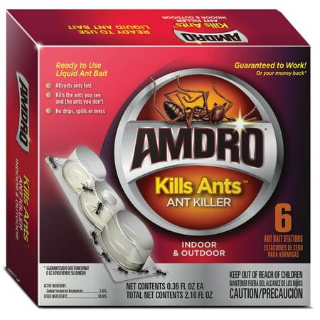 Amdro Kills Ants Liquid Ant Killer Bait Stations, -