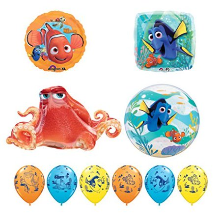 10pc Finding Dory Nemo and Hank Birthday Party Balloon supplies decorations (Nemo Pinata)