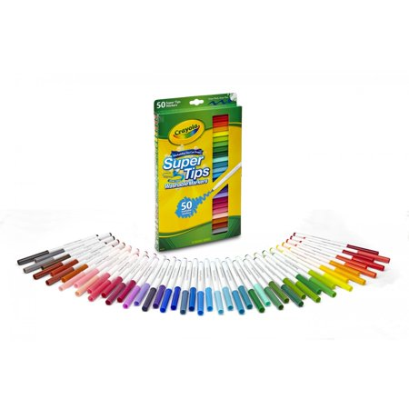 Crayola Super Tips Washable Markers, 50 Count - Crayola Color Wonder Markers