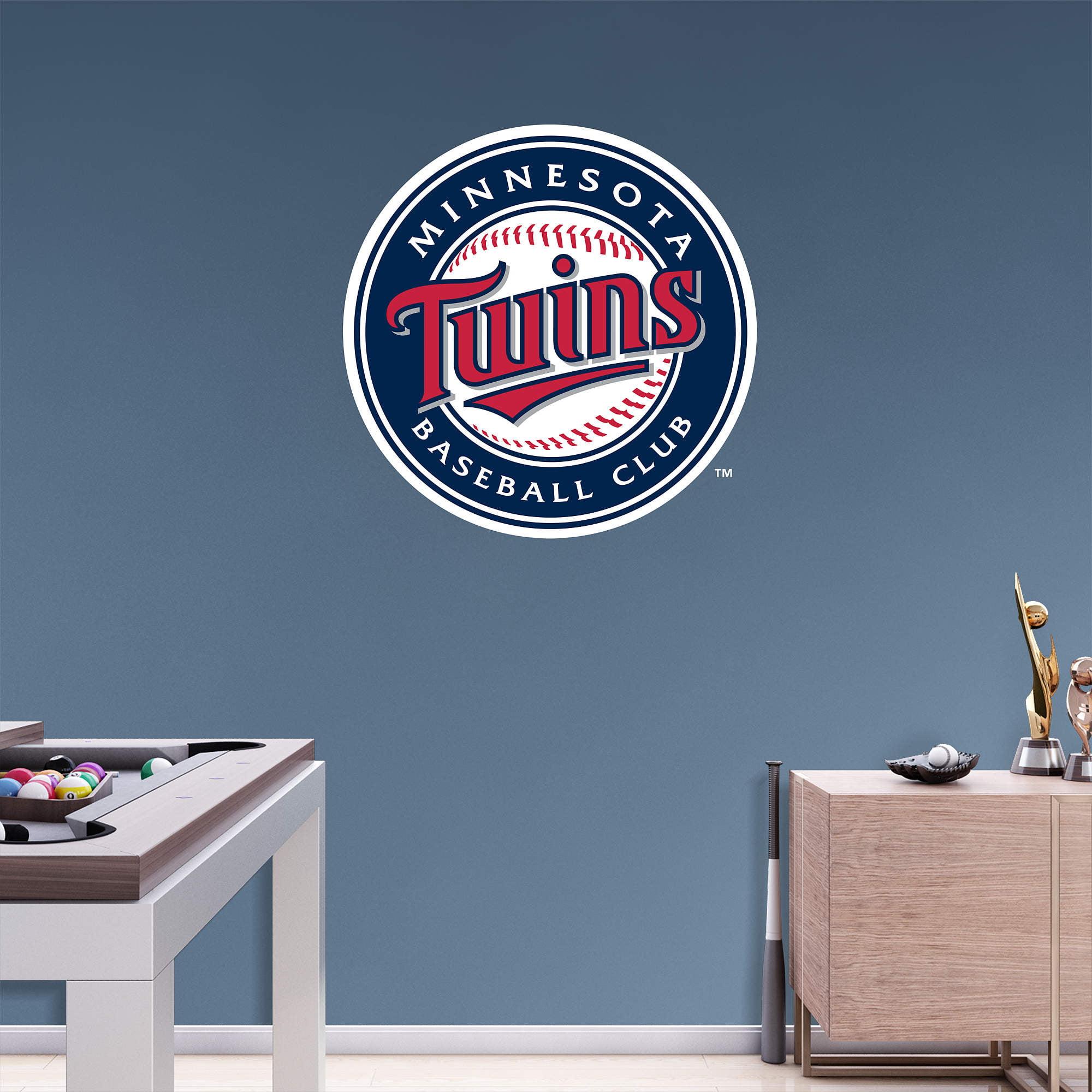 Minnesota Twins Fathead Team Logo Wall Decal - No Size