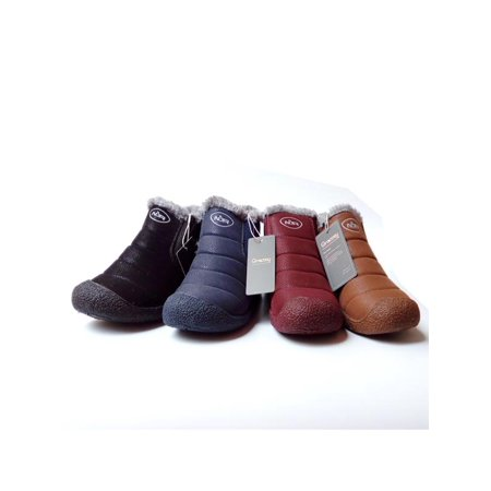 9c3ab138b Gracosy Winter Casual Shoes Fashion Couple Snow Boots Warm High Boots Gift  for Parents Friends