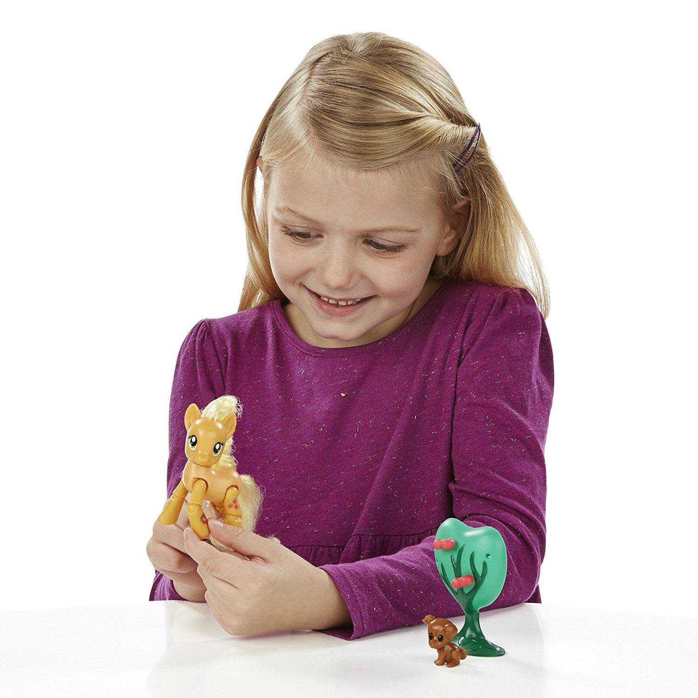 Friendship Is Magic Applejack Applebucking Poseable Pony, Poseable action figure pony -- push head and legs kick By My Little Pony - Walmart.com