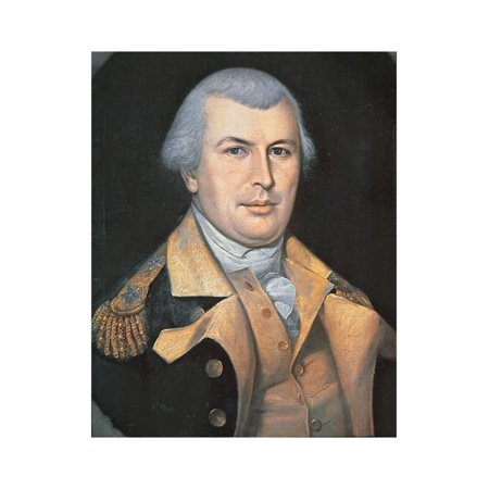 Portrait of Nathanael Greene Print Wall Art By Charles Willson Peale