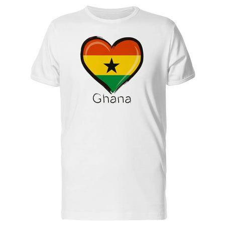 Ghana Flag Heart Tee Men's -Image by Shutterstock