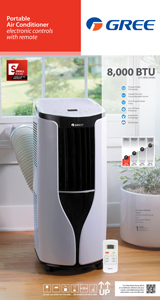 Great Gree 8,000 BTU Portable Air Conditioner G17 8PACSW Image 3 Of 3