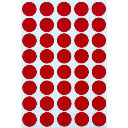 - Red dot sticker colored labels , Round stickers 19mm - 1000 Pack by Royal Green