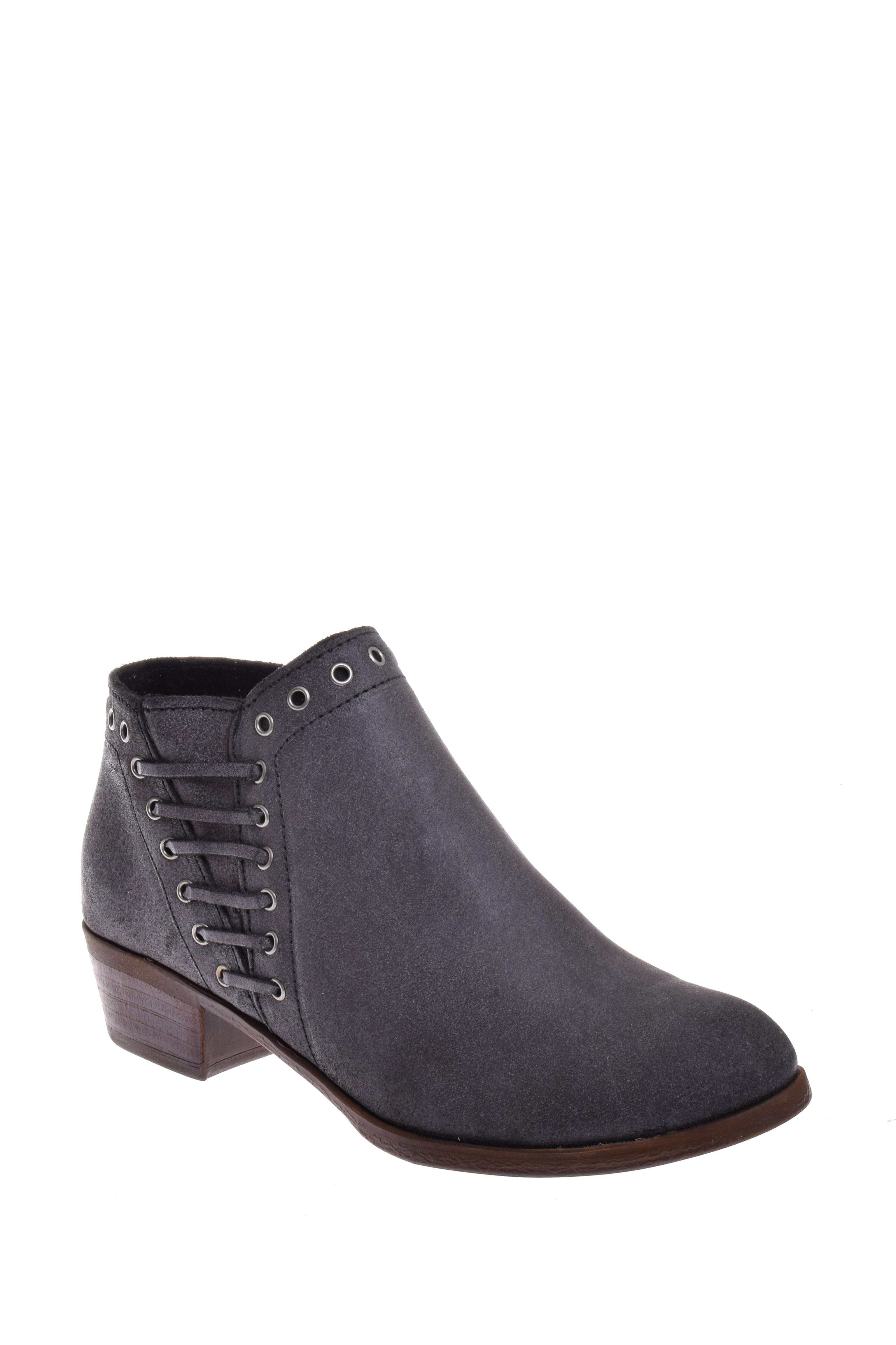 Minnetonka Brenna Low Heel Bootie Vintage Charcoal by