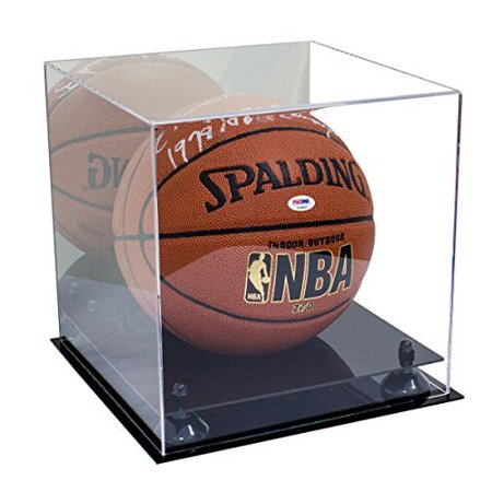 Deluxe Acrylic Basketball Display Case with Black Risers and Mirror (A001-BR)