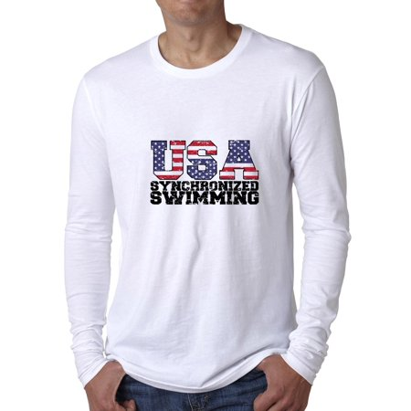 USA Olympics - Synchronized Swimming - Vintage Men's Long Sleeve T-Shirt