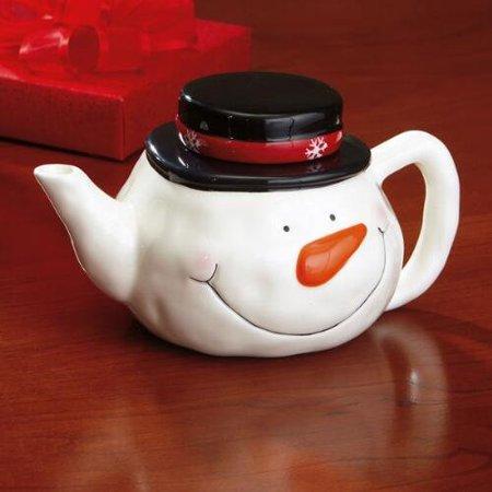 Friendly Ceramic Snowman Teapot Walmart Com