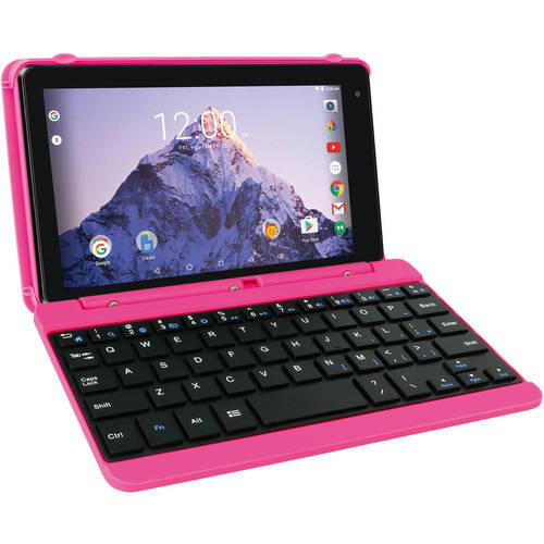 "Refurbished RCA RCT6873W42KC PK 7"" 16GB 1.20 GHz Tablet with Keyboard Case Android 6.0"