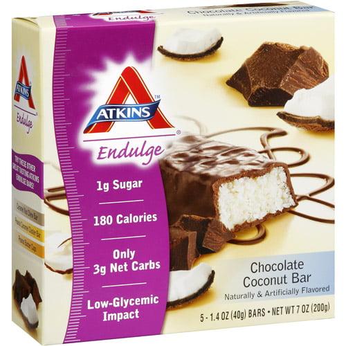 Atkins Endulge Chocolate Coconut Bar, 5ct