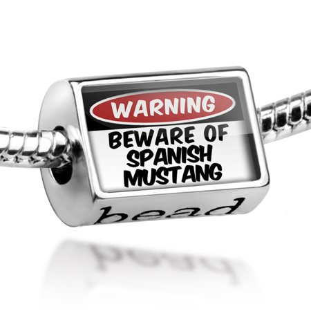 - Bead Beware of the Spanish Mustang, Horse Charm Fits All European Bracelets