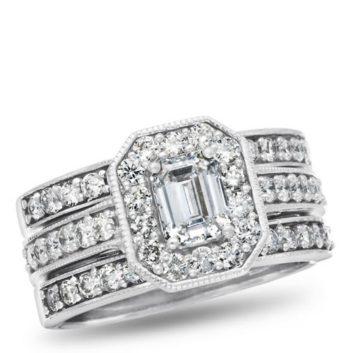 Calista, 14K White Gold Diamond Bridal Set, 2.00 ctw.
