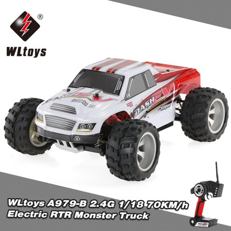 WLtoys A979-B 2.4G 1/18 Scale 4WD 70KM/h High Speed Electric RTR Truck RC Car - image 7 de 7