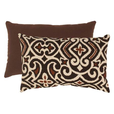 Beige Rectangular Pillow (Pillow Perfect Brown and Beige Damask Rectangular Throw)