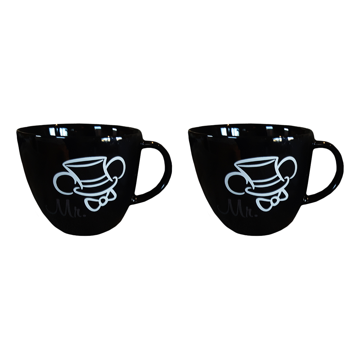 Disney Parks Mickey Mouse Grooms Mr Top Hat Ears Mug Set