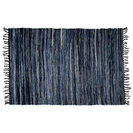 Denim Chindi Area Rag Rug 100% Cotton Recycled For Living Room Entryway Bedroom Porch Woven Large 4x6 - Ways To Decorate Your Bedroom For Halloween