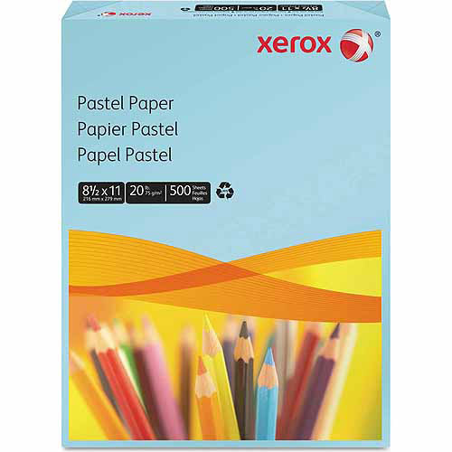 Xerox Multipurpose Pastel Colored Paper, Letter, Blue, 500 Sheets/Ream