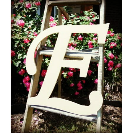 Unfinished DIY Letter Decor, 12'' Monotype E,  Wooden Alphabet Letter ()