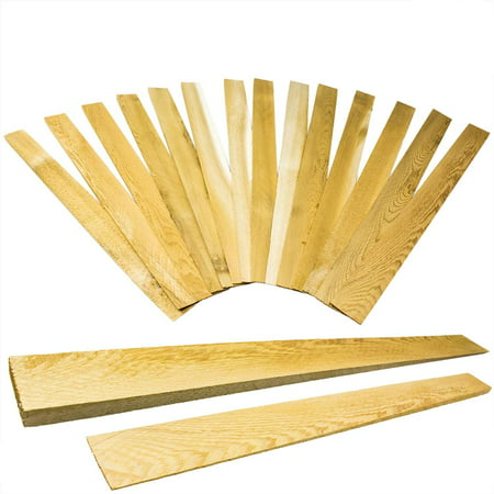 Pro Projects Extra Long 15in Tapered Cedar Wood Shims, 13 Pack. Perfect Weather Resistant Home Improvement Tool for Installing Doors, Windows, & Cabinets, Leveling Floors & DIY Remodeling