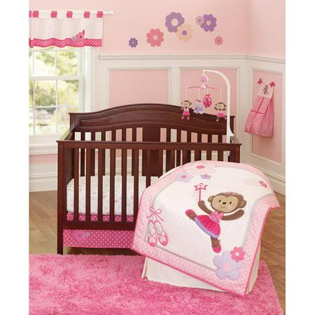 Child Of Mine By Carter S Ballerina Monkey 3 Piece Crib Bedding Set