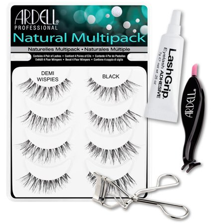 0140777a5c0 Ardell Fake Eyelashes Demi Wispies Value Pack - Natural Multipack Demi  Wispies (Black),