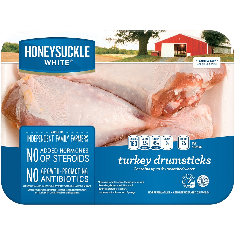 Honeysuckle White All Natural Turkey Drumsticks, 2-2.5 lbs