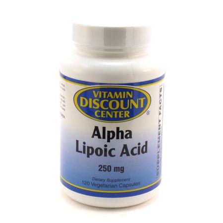 El ácido alfa lipoico 250 mg por Vitamin Discount Center - 120 Caps vegetarianas