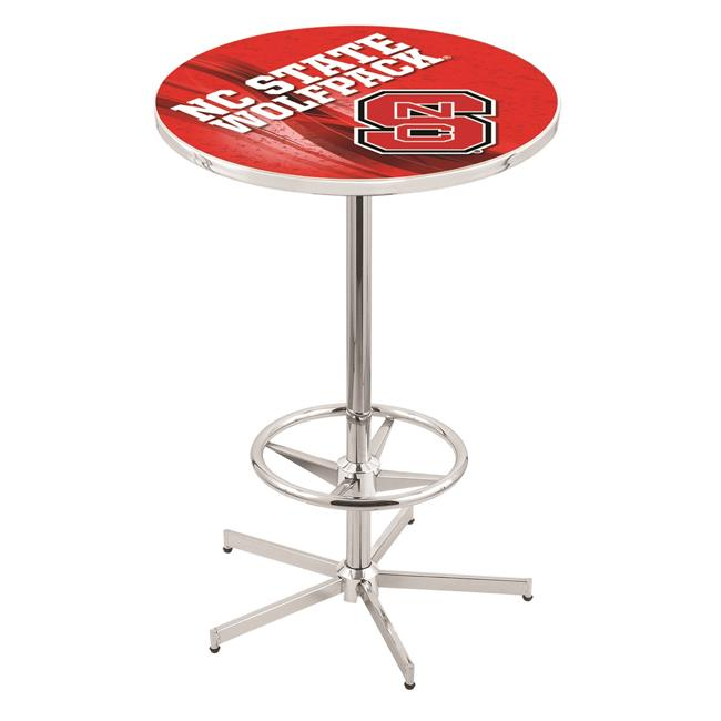 Holland Bar Stool L216C4236NCarSt-D2 42 in. NC State Wolfpack Pub Table with 36 in. Top, Chrome - image 1 of 1