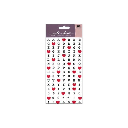 Ek Success Heart - EK Sticko Sticker Alpha Happy Heart Alphabet