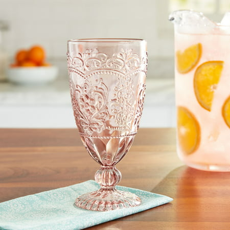 The Pioneer Woman Rose Embossed Goblet