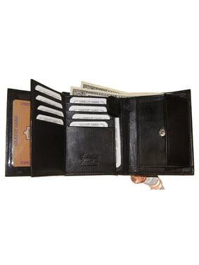 Improving Lifestyles SUN 1318 BK Men's Leather Bi Fold Wallet