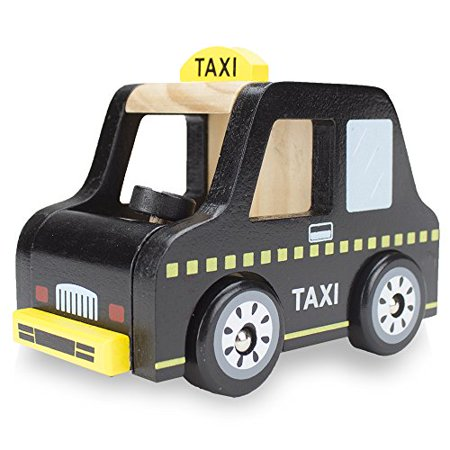 Imagination Generation Wooden Wheels Chunky Toy Taxi Cab Passenger Vehicle Car