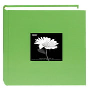 "4""X6"" 2-UP 200 PHOTO FABRIC FRAME BI-DIRECTIONAL MEMO ALBUM - CITRUS GREEN"